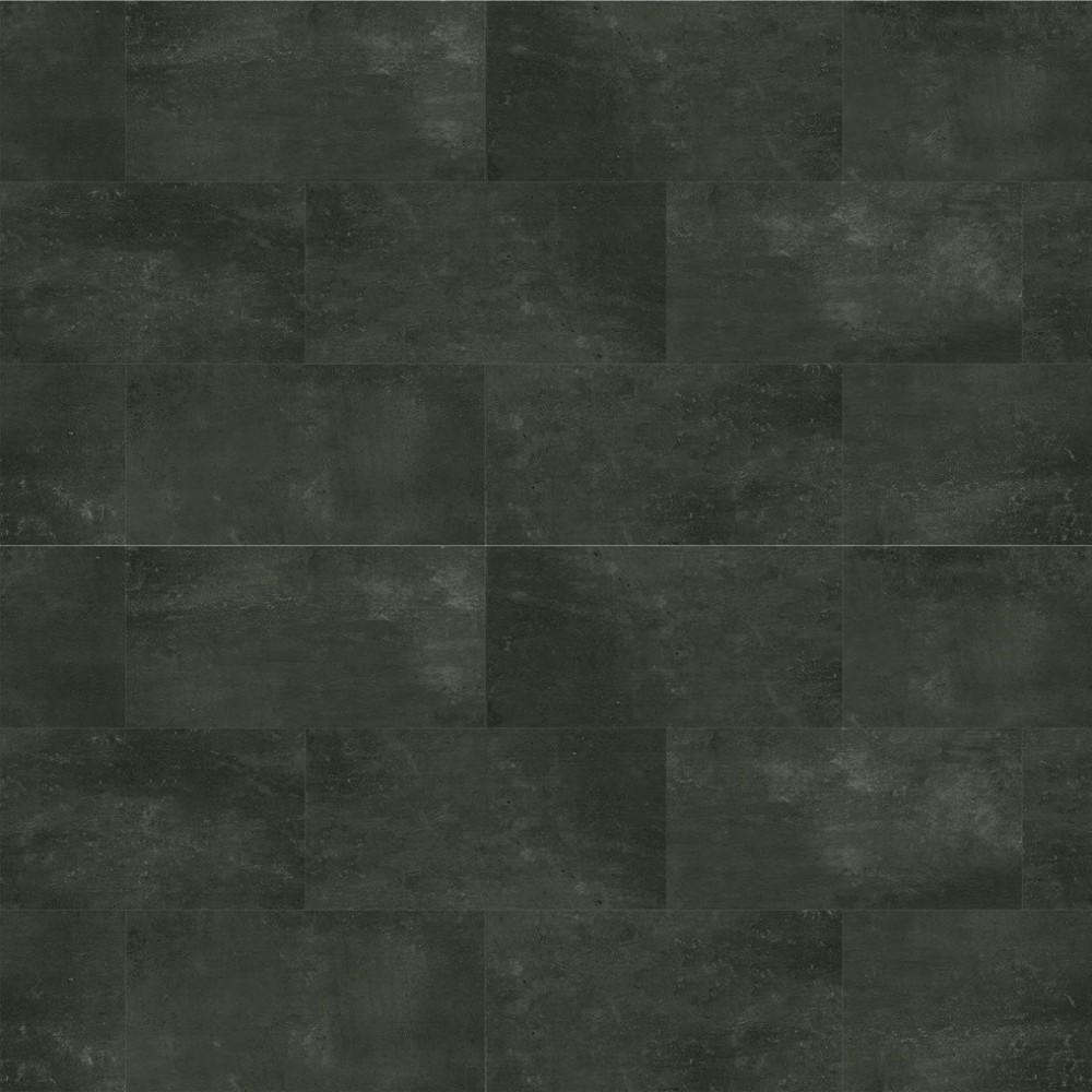 Dalle pvc clipsable granite gris foncé