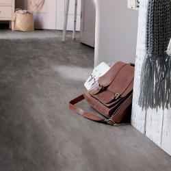PVC décor pierre présenté sur la photo en gris foncé