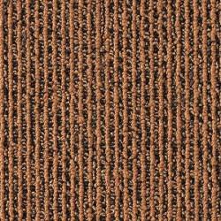 Moquette en dalle à bandes marrons