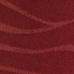 Moquette rouge brique épaisse déco ondulée traitée anti bactériens