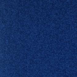 Moquette bleu roi délicate et pro, confort et robuste, velours recyclé, Moquette Avenue