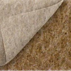 Moquette expo, beige foncé avec film de protection