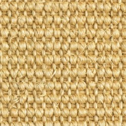 Moquette en fibres de sisal, jaune paille, collection Nature