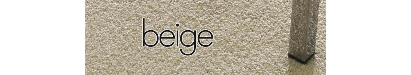 Moquette beige en laine ou synthétique